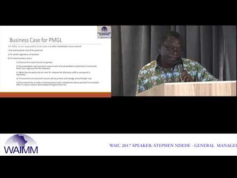 WAIC 2017 Presentation by Stephen Kofi Ndede, General Manager - Perseus Mining Ghana Ltd, Ghana
