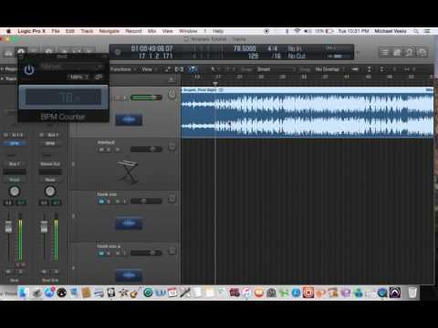 Find BPM/Tempo of Imported Tracks in Logic Pro X