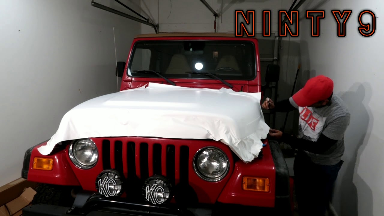 Vinyl Wrap On A Jeep Wrangler Tj Matte White Custom Jeep
