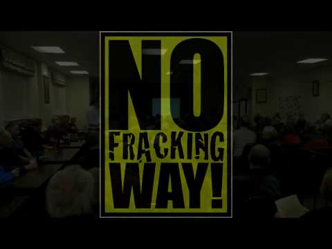 Eckington Against Fracking -  Second Public Meeting March 2017 - No Fracking Way