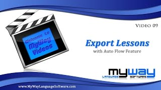 MyWay Video 10: Export Lessons