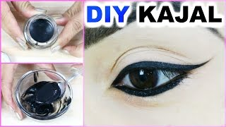 DIY Kajal At Home - Smudge Free, Long Lasting, Blackest Black, 100% Natural | PrettyPriyaTV
