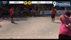 Très beau match de pétanque Bonetto VS Cortes : Demi-finale International de Draguignan 2019