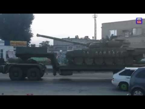 В Ростовской обл  замечены танки с надписью За Донбасс