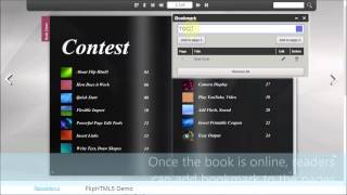 Super Bookmark to enable readers to add bookmark to flipbook pages thumbnail