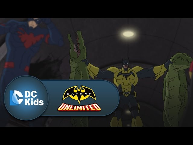 Red Robin and Nightwing Take Down Killer Croc | Batman Unlimited | DC Kids