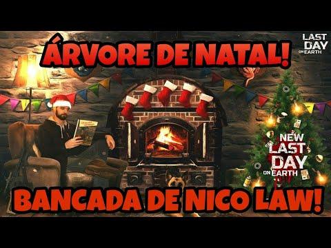 CONSTRUI A ÁRVORE DE NATAL EA BANCADA NICO LAW! VEJA COMO FICOU!!! Last Day On Earth