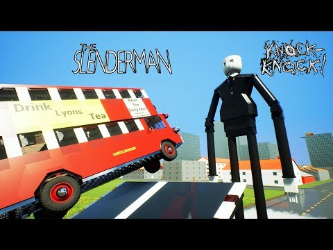 High Speed Lego Car Crashes To Slender Man | Brick Rigs thumbnail