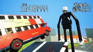 High Speed Lego Car Crashes To Slender Man | Brick Rigs