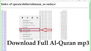 Gambar cover How to Download Murattal Al-Quran mp3 Full 30 Juz - the best way - quranicaudio