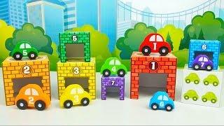 МАШИНКИ и Гаражи - Развивающие игры для ребёнка. Учим цифры и цвета  Носики Курносики(Развивающее видео для ребёнка про интересные машинки, с которыми можно весело поиграть. У каждой из этих..., 2016-04-15T12:39:24.000Z)