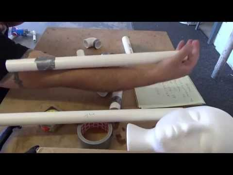DIY PVC pipe dummy Halloween Prop for $13.39