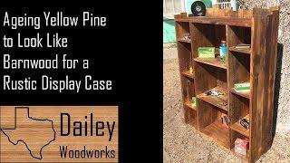 Using Steel Wool and Vinegar to Age Wood for Rustic Book Shelf DIY Barnwood