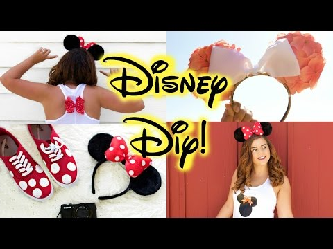 DIY Disney Clothes! Cheap & Easy Pinterest Inspired! || Ears, Shirts & Shoes!