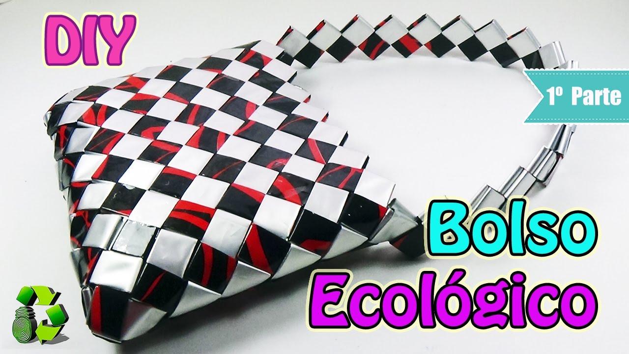 Bolso con bolsas de papitas [1 PARTE de 2] Ecobrisa DIY - YouTube