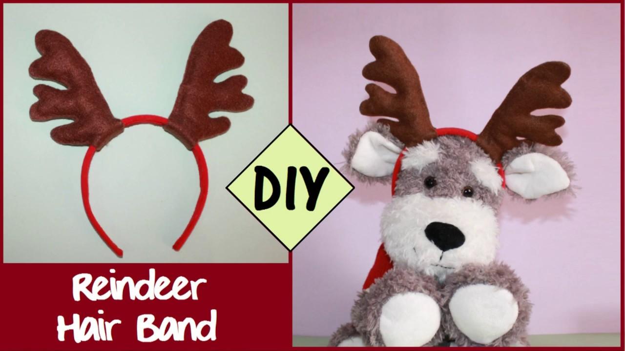 DIY Reindeer Hair Band  c5a2bfad324