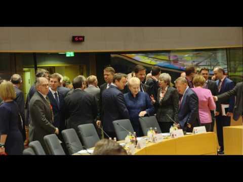 STIRIPESURSE Klaus Iohannis la Consiliu European din 9.03.2017 (Tour de table)