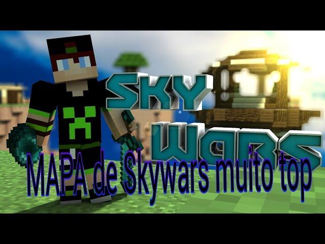 ♚ Minecraft PE ⇨ Mapa de skywars muito top●