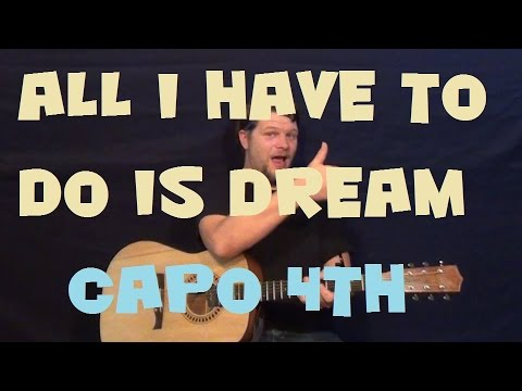 All I Have to Do Is Dream (The Everly Brothers) Easy Strum Guitar Lesson How to Play Tutorial