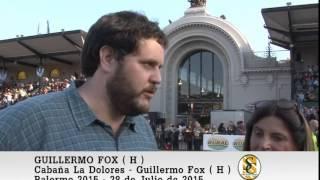 28-07-15 Dolores Ahumada de Roca ( Cabaña La Dolores ) y Guillermo Fox ( Hijo ) - Palermo 2015.