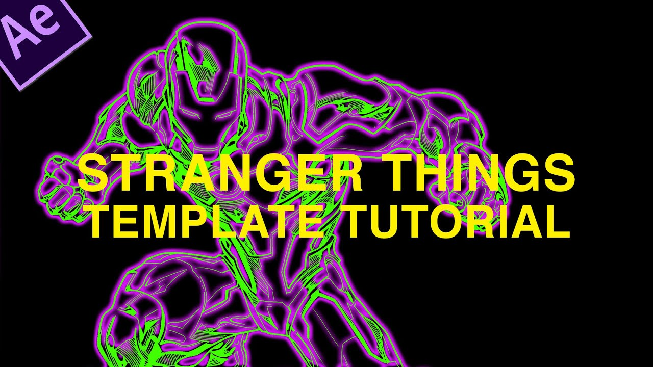 How To Customize The Stranger Things Intro Template Tutorial Adobe After Effects YouTube