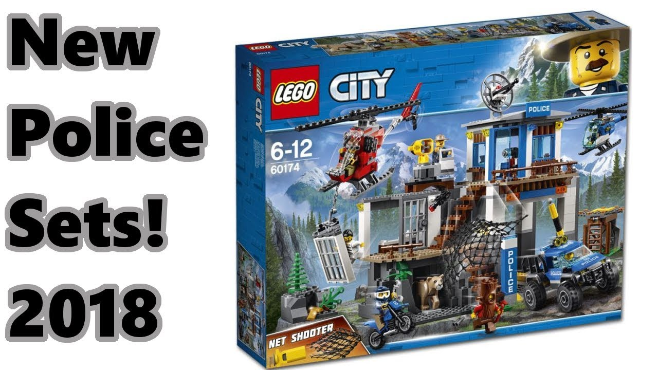 new lego city 2018 police sets youtube. Black Bedroom Furniture Sets. Home Design Ideas