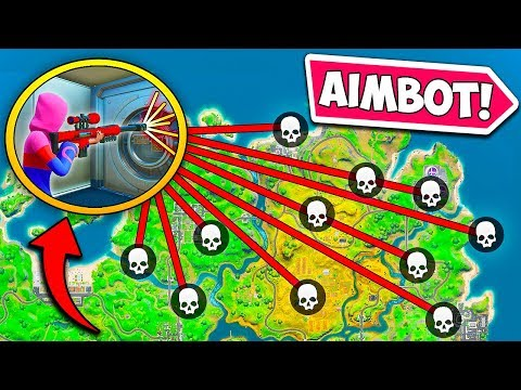 AIMBOT *HACKER* HITS IMPOSSIBLE SHOTS!! - Fortnite Funny Fails And WTF Moments! #861