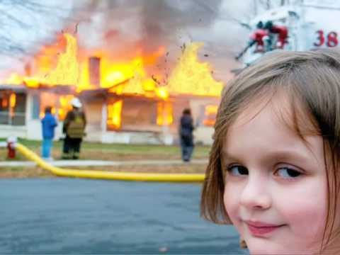 Image result for girl smiling behind fire