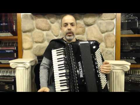How To Play Rock And Roll Zydeco On Piano Accordion - Lesson 1 - Slow Rock 12/8 Groove