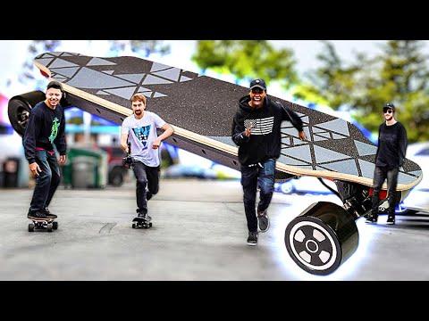 The World's First Self Balancing Skateboard!