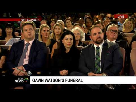 Former State President Jacob Zuma pays his last respects to Gavin Watson