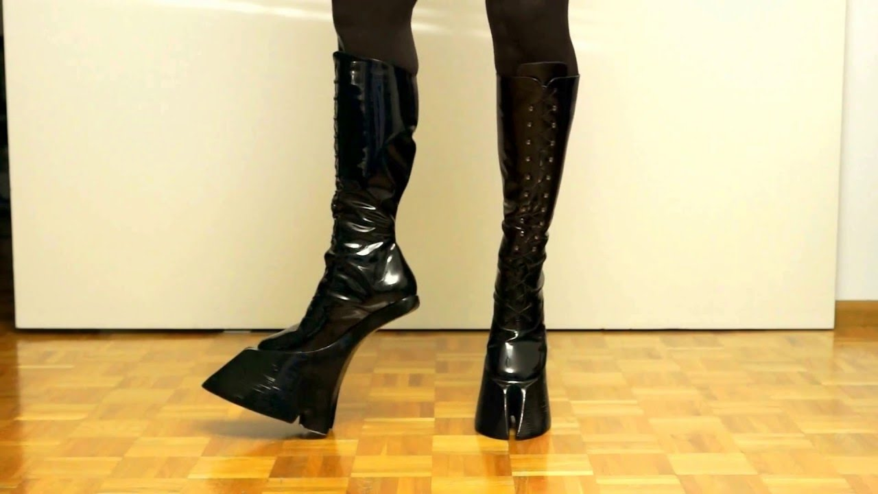 01b71ff2eb Cloven Hoof Boots - Patent Black Leather - YouTube