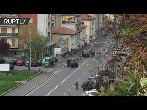 Italy's war on COVID-19 | Army installs checkpoints in Bergamo