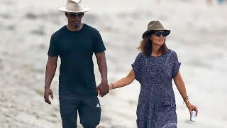 Katie Holmes and Jamie Foxx Spotted Holding Hands During Romantic Stroll on the Beach