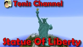 Minecraft wonders of the world Statue of Liberty