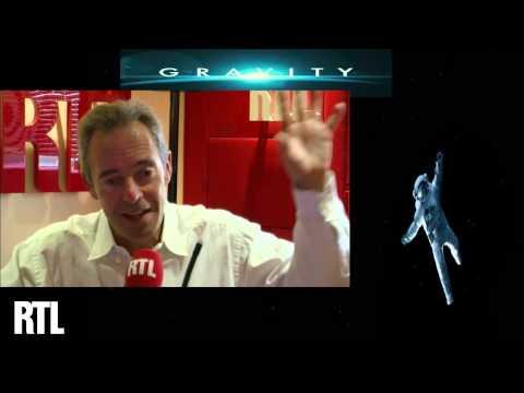 Jean-François Clervoy, astronaute à l'ESA,  réagit aux premières images du film Gravity au micro