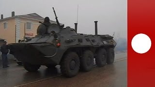 Video: Mystery APCs spotted in Ukraine