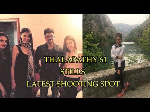Actor Vijay Latest Photos From Vijay 61 Europe Shooting | Kajal Agarwal | Sathyaraj | Thalapathy 61