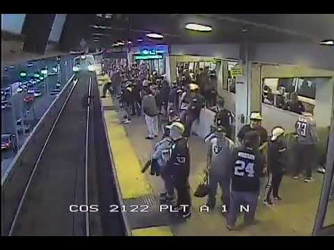 Rick Hamada & Scotty B - BART supervisor grabs fallen passenger from Oakland platform