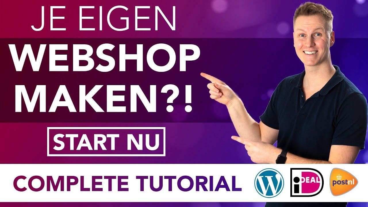 Hoe Maak Je Een Webshop