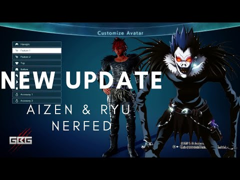 Aizen Ryu Nerfed Jump Force Patch 1 04 Ryuk Outfit Now Live Youtube
