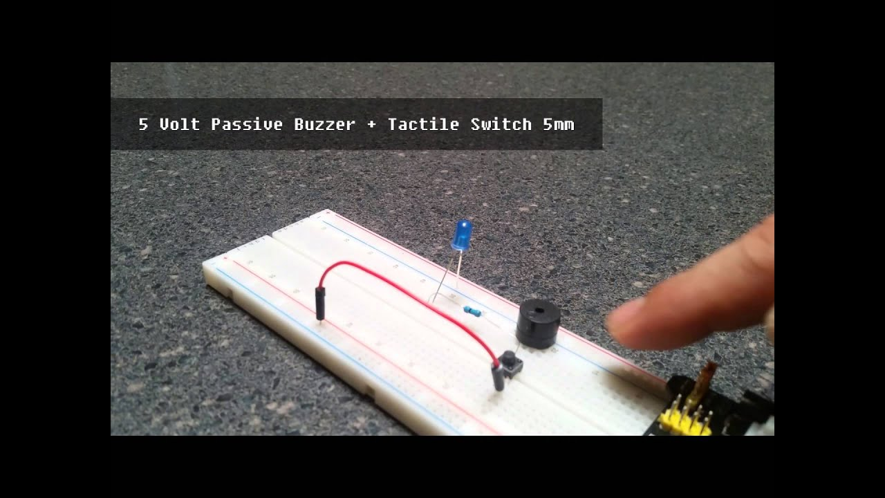 5v Passive Buzzer Momentary Tactile Switch Demonstration Youtube Tact Wiring
