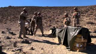 Marines Fire 81mm Mortar at Army Range in Nevada - 3rd Battalion 3rd Marine Regiment