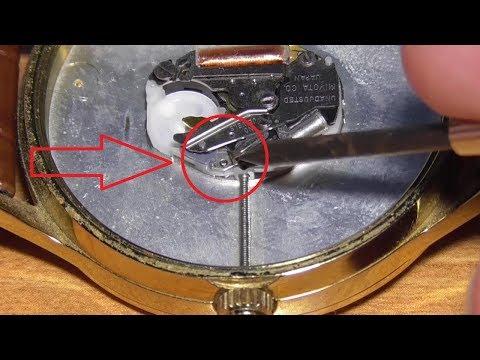 Как вытащить заводную головку из наручных часов