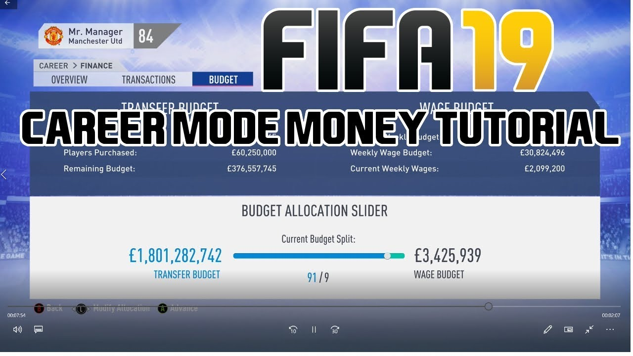 FIFA 19: How to get a 1 BILLION transfer budget in Career mode