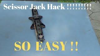 Scissor Jack Quick Hack!! SO EASY!! So Useful!