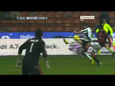 AC Milan 1 - 2 Udinese - Gol Alexis Sanchez - 09/01/2011 - Semana 19 - MasFutbol.TK