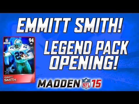 MUT 15 - Legend Pack Opening! | Emmitt Smith and Gene Upshaw!