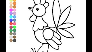 Cock Coloring Pages for Kids - Cock Coloring Pages