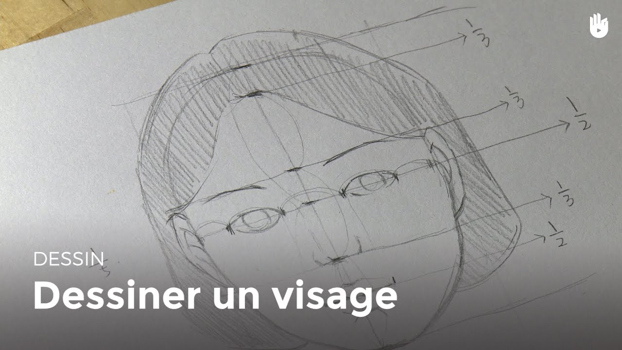 Souvent Dessin : Dessiner un visage - HD - YouTube WI43